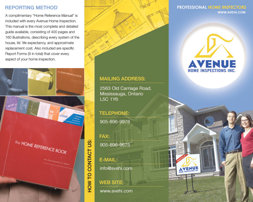 Avenue home inspections brochure front